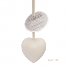Мыло на льняном шнурке в форме сердца Nature Цветок хлопка
