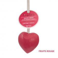 Мыло на льняном шнурке в форме сердца Лесная ягода